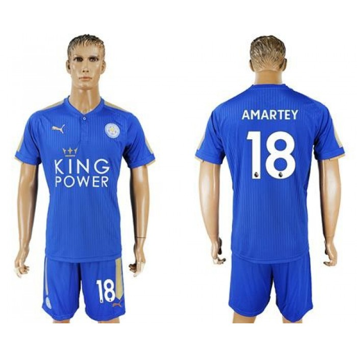Leicester City #18 Amartey Home Soccer Club Jersey