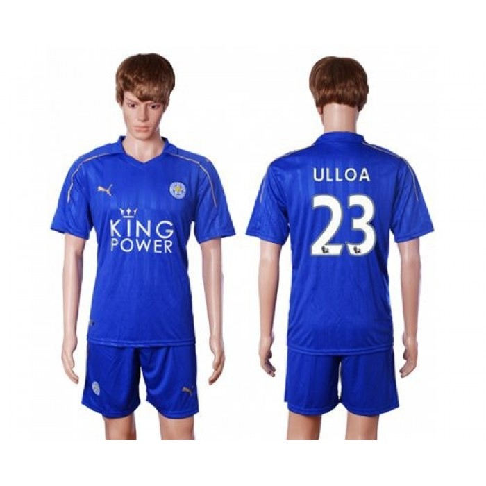Leicester City #19 Slimani Home Long Sleeves Soccer Club Jersey
