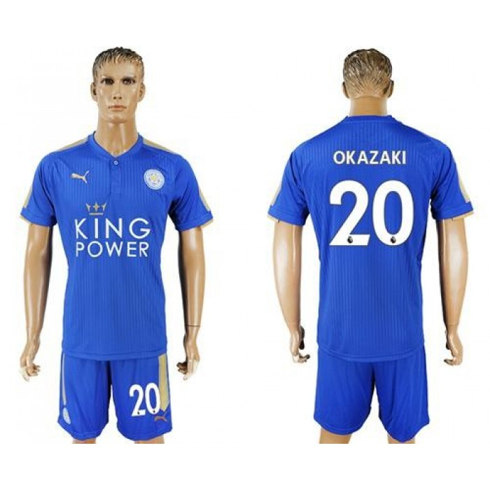 Leicester City #20 Okazaki Home Soccer Club Jersey