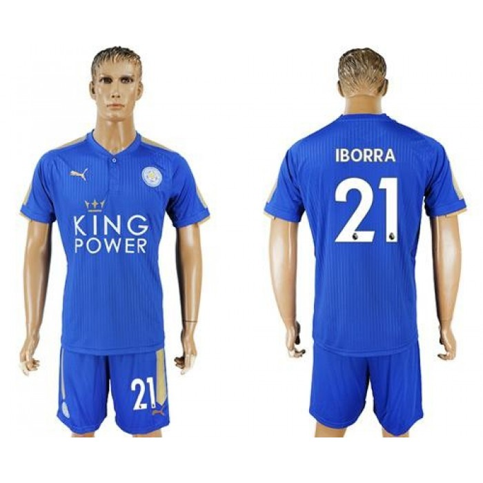 Leicester City #21 Iborra Home Soccer Club Jersey