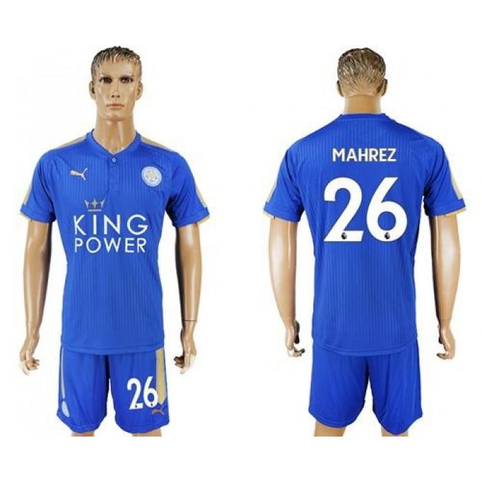 Leicester City #26 Mahrez Home Soccer Club Jersey