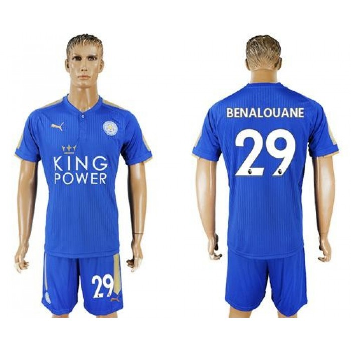 Leicester City #29 Benalouane Home Soccer Club Jersey