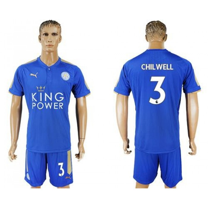 Leicester City #3 Chilwell Home Soccer Club Jersey