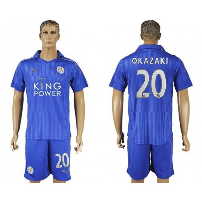 Leicester City #7 Gray Home Long Sleeves Soccer Club Jersey