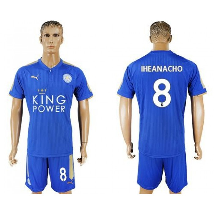 Leicester City #8 Iheanacho Home Soccer Soccer Club Jersey