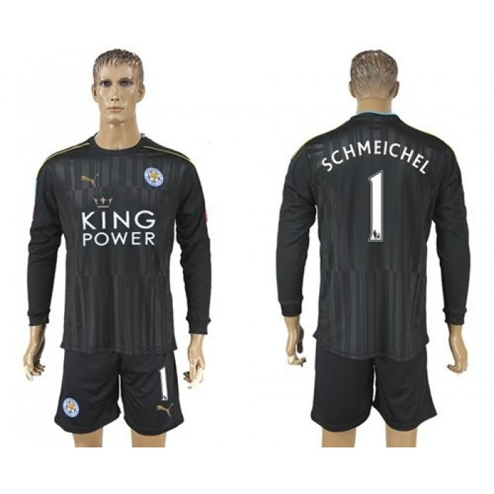 Leicester City #9 Vardy Home Long Sleeves Soccer Club Jersey