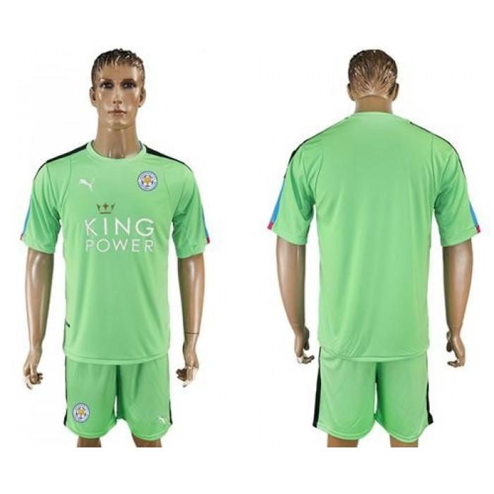 Leicester City Blank Green Goalkeeper Soccer Club Jersey