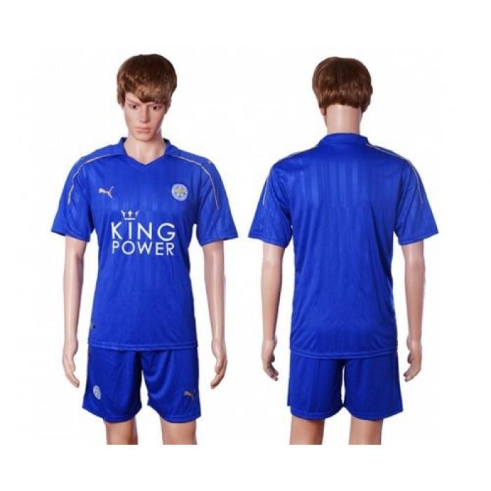 Leicester City Blank Light Blue Goalkeeper Long Sleeves Soccer Club Jersey