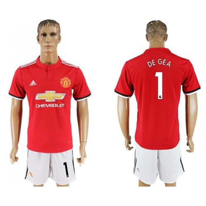 Manchester United #1 De Gea Red Home Soccer Club Jersey