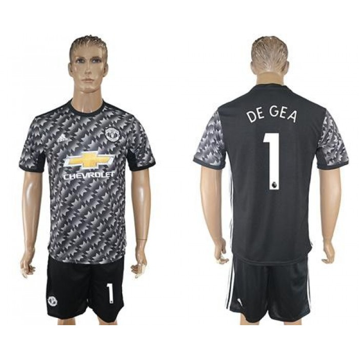 Manchester United #1 De Gea Black Soccer Club Jersey