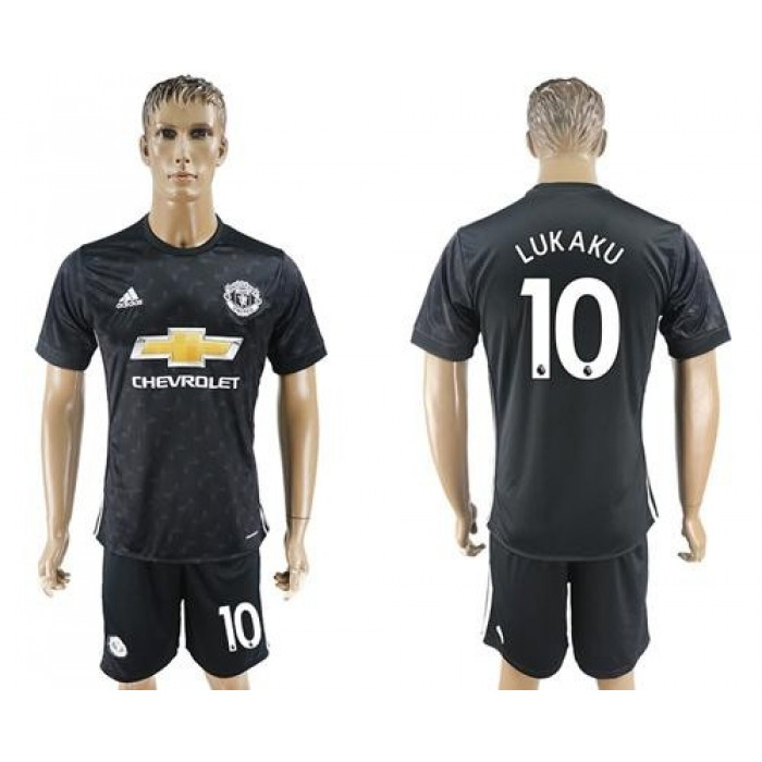 Manchester United #10 Lukaku Away Soccer Club Jersey