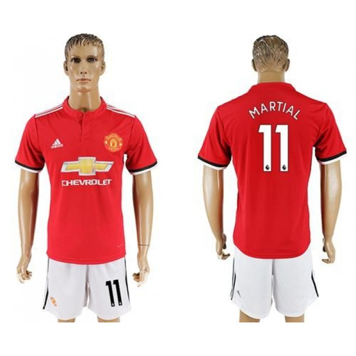 Manchester United #11 Martial Red Home Soccer Club Jersey
