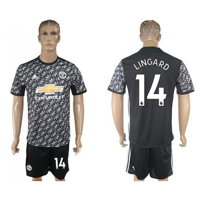 Manchester United #14 Lingard Black Soccer Club Jersey