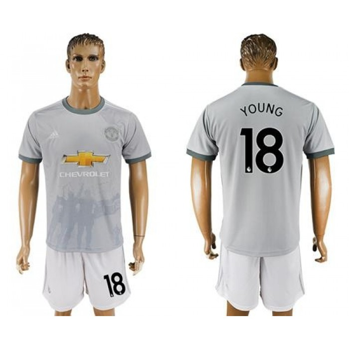 Manchester United #18 Young Sec Away Soccer Club Jersey