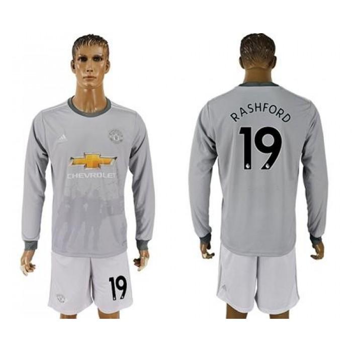 Manchester United #19 Rashford Sec Away Long Sleeves Soccer Club Jersey