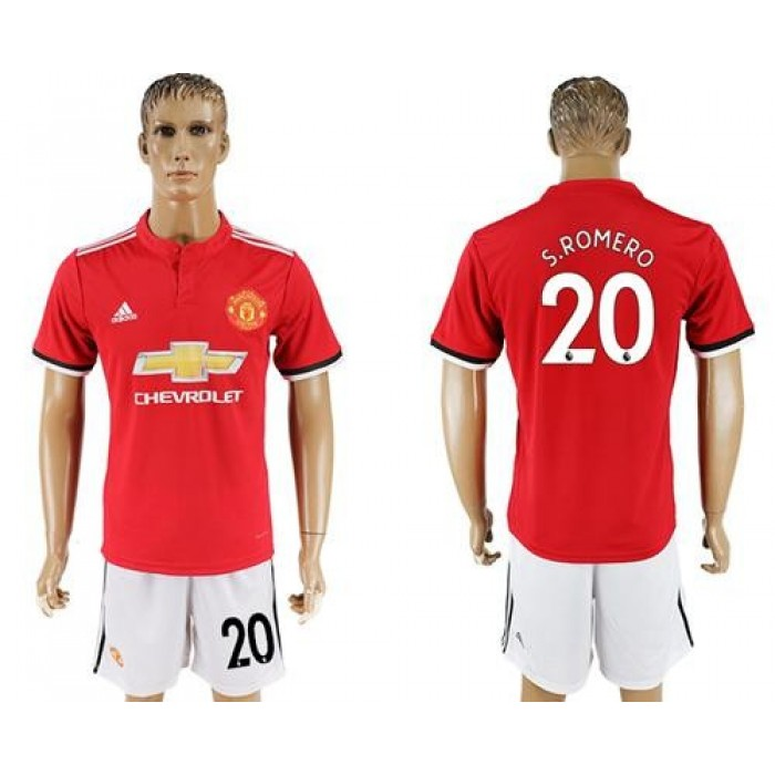 Manchester United #20 S.Romero Red Home Soccer Club Jersey