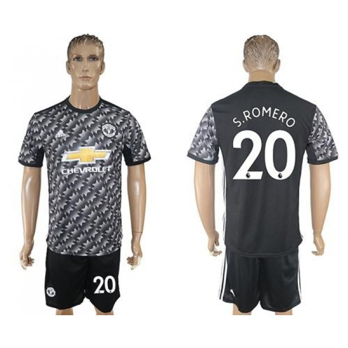 Manchester United #20 S.Romero Black Soccer Club Jersey