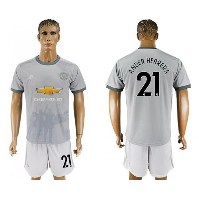 Manchester United #21 Ander Herrera Sec Away Soccer Club Jersey