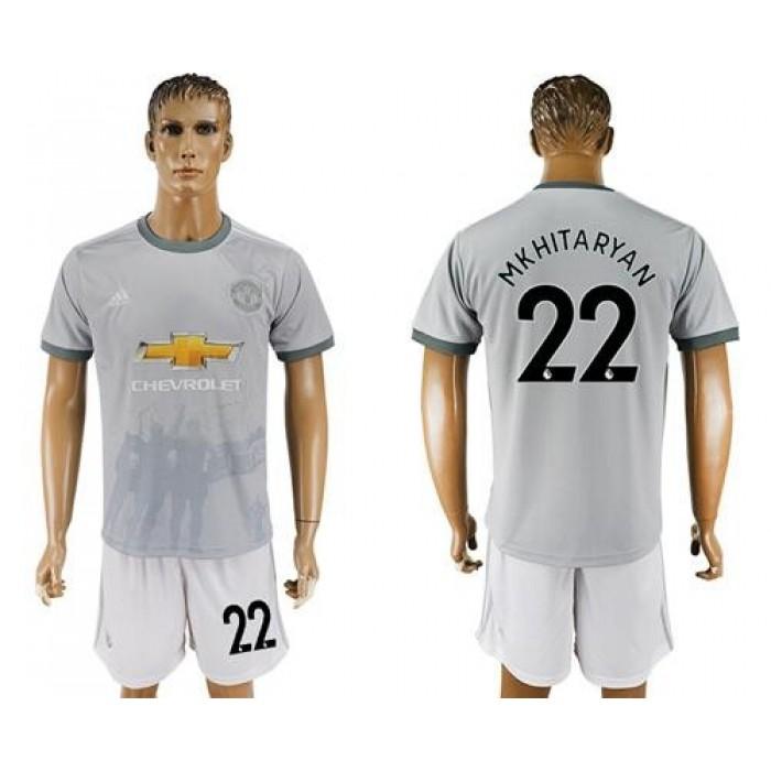 Manchester United #22 Mkhitaryan Sec Away Soccer Club Jersey