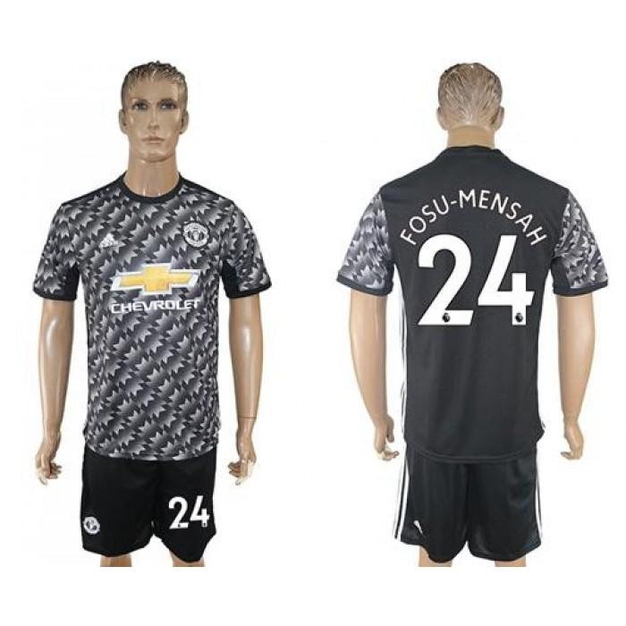 Manchester United #24 Fosu-Mensah Black Soccer Club Jersey
