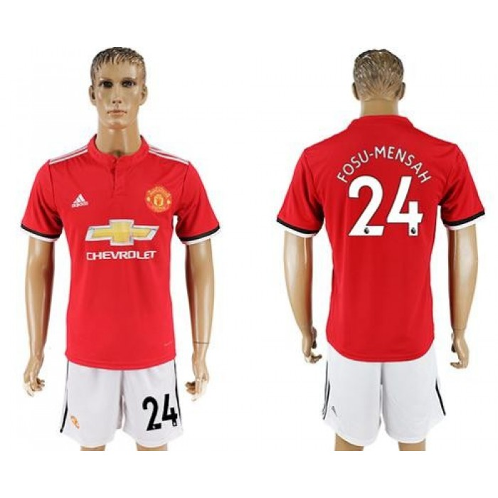 Manchester United #24 Fosu-Mensah Red Home Soccer Club Jersey