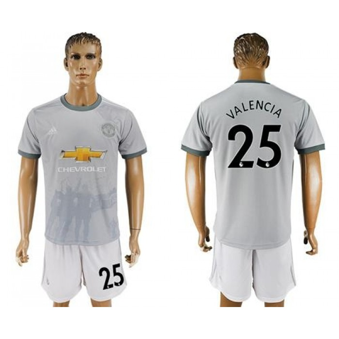 Manchester United #25 Valencia Sec Away Soccer Club Jersey