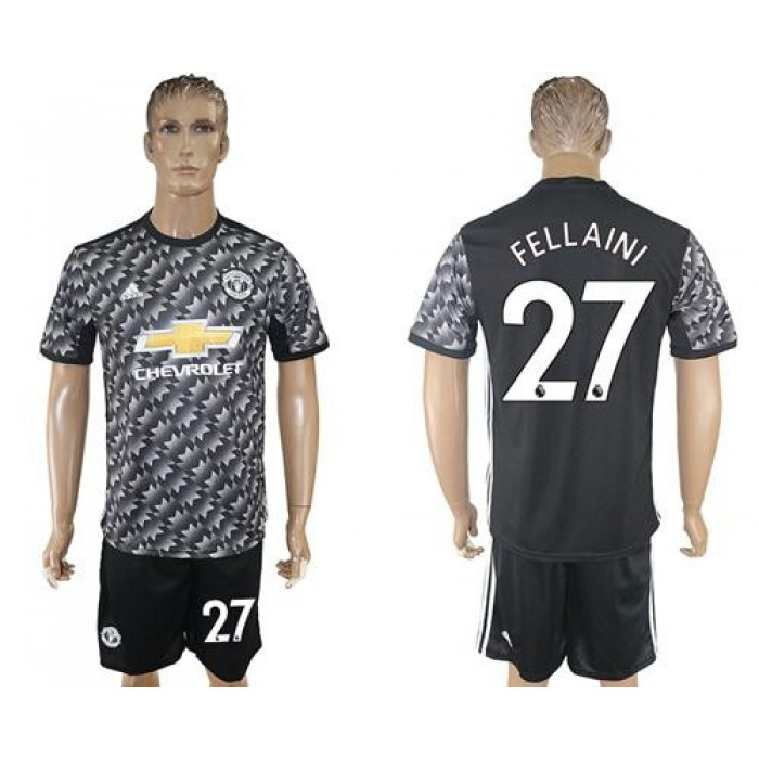 Manchester United #27 Fellaini Black Soccer Club Jersey