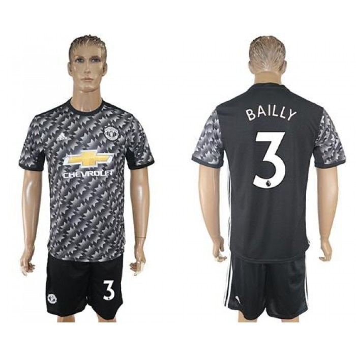 Manchester United #3 Bailly Black Soccer Club Jersey