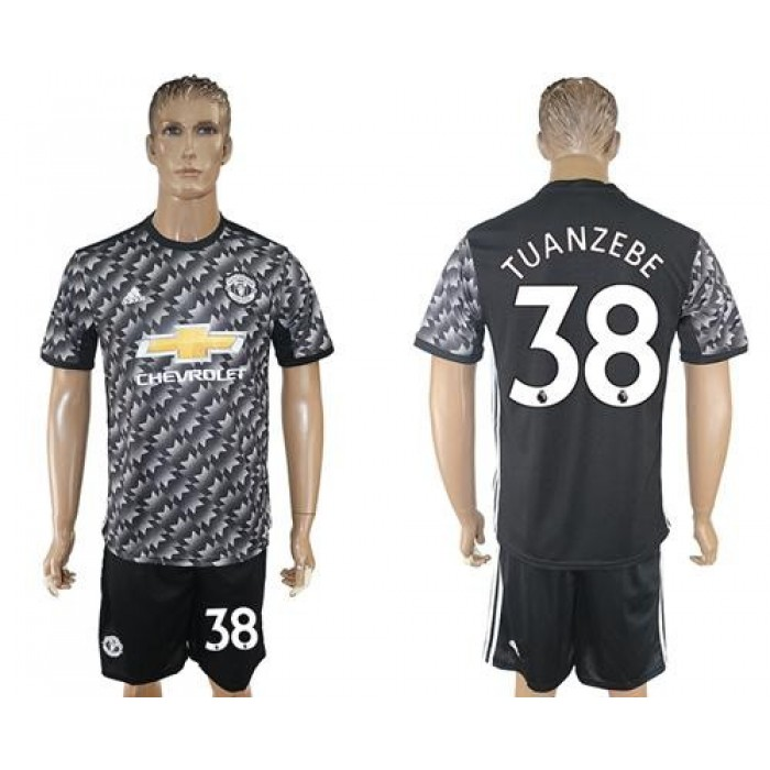 Manchester United #38 Tuanzebe Black Soccer Club Jersey