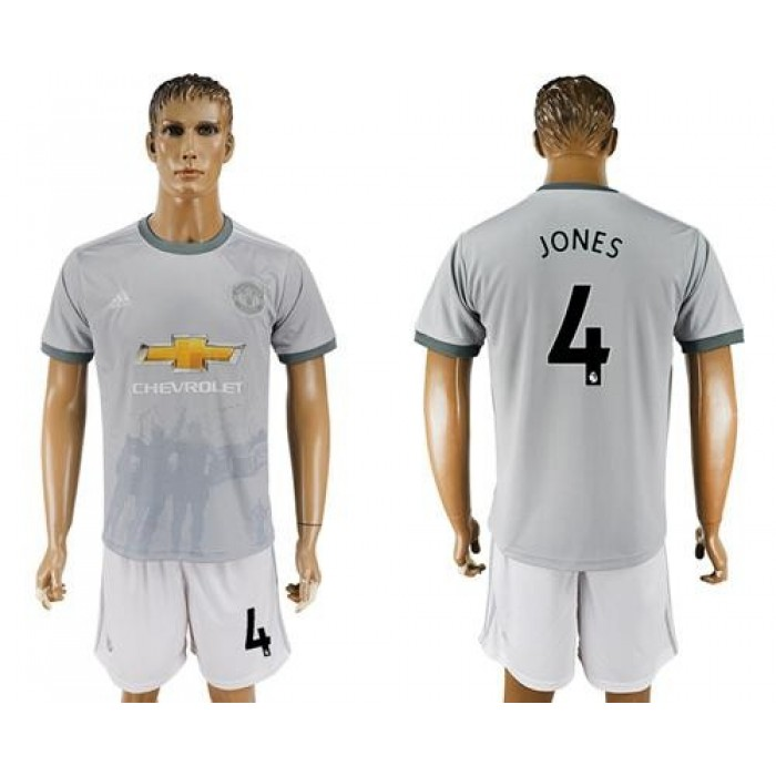 Manchester United #4 Jones Sec Away Soccer Club Jersey