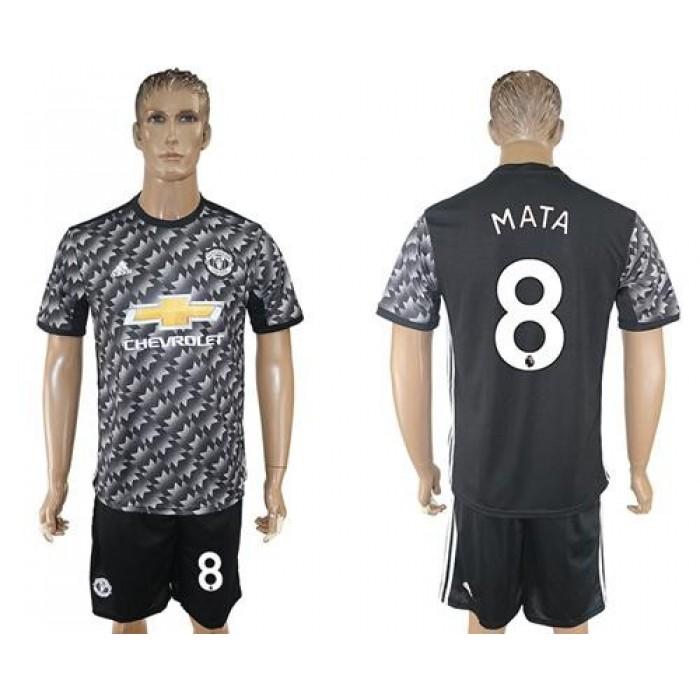 Manchester United #8 Mata Black Soccer Club Jersey