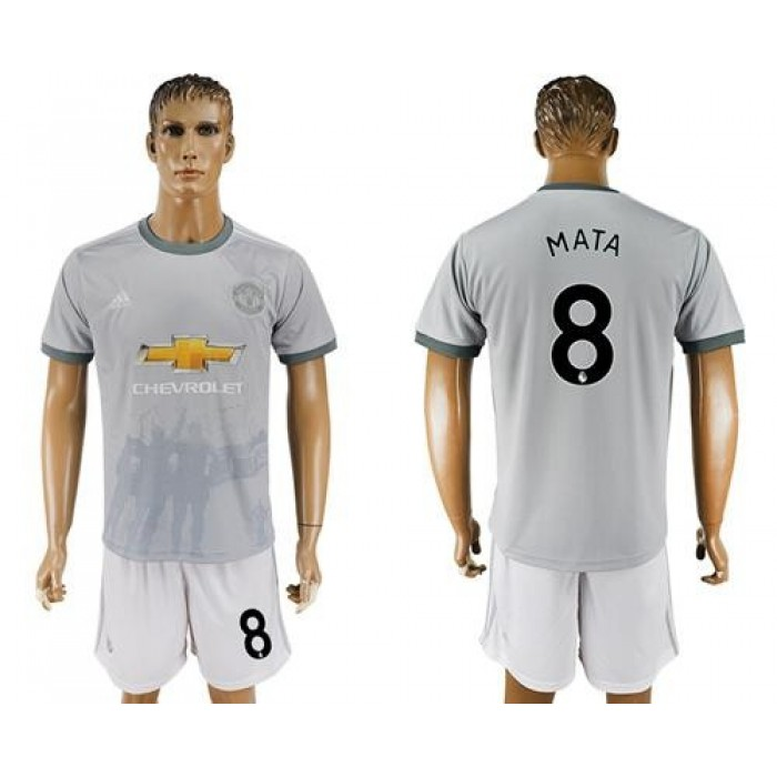 Manchester United #8 Mata Sec Away Soccer Club Jersey