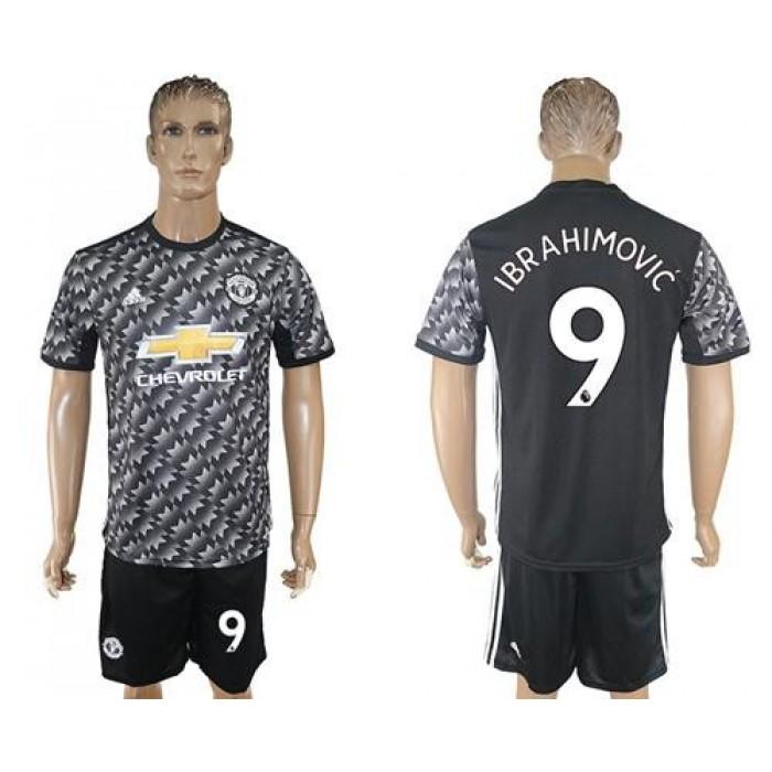Manchester United #9 Ibrahimovic Black Soccer Club Jersey