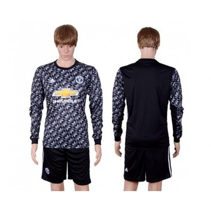 Manchester United Blank Away Long Sleeves Soccer Club Jersey