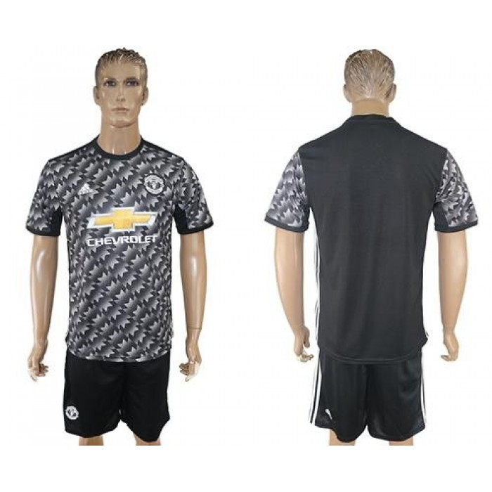 Manchester United Blank Black Soccer Club Jersey