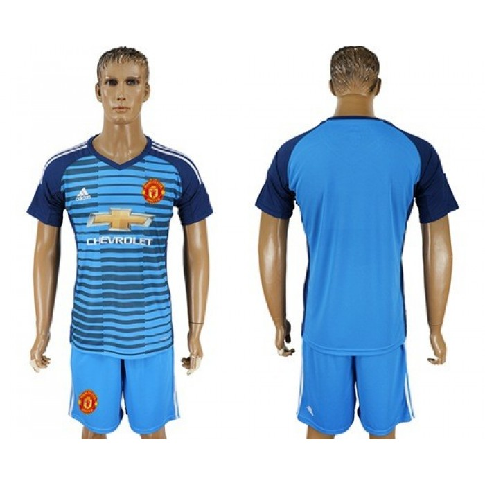 Manchester United Blank Blue Soccer Club Jersey