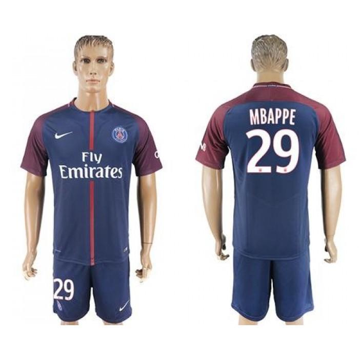 Paris Saint-Germain #29 Mbappe Home Soccer Club Jersey