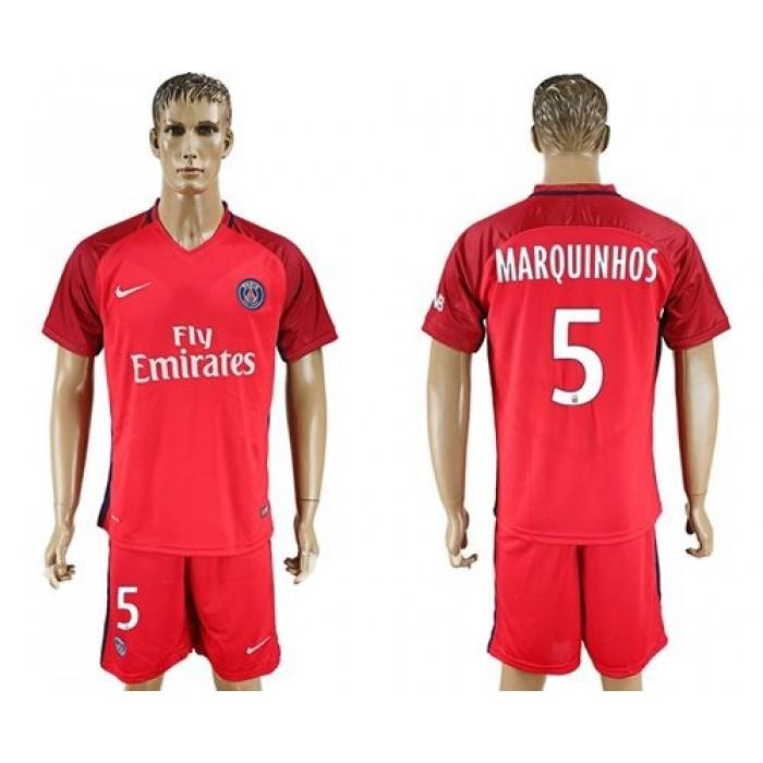 Paris Saint-Germain #8 Thiago Motta Away Long Sleeves Soccer Club Jersey