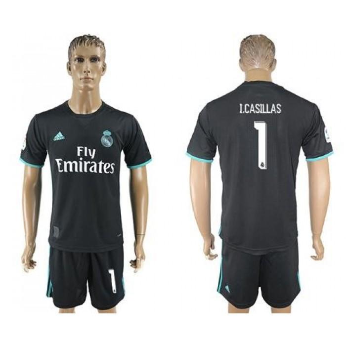 Real Madrid #1 I.Casillas Away Soccer Club Jersey
