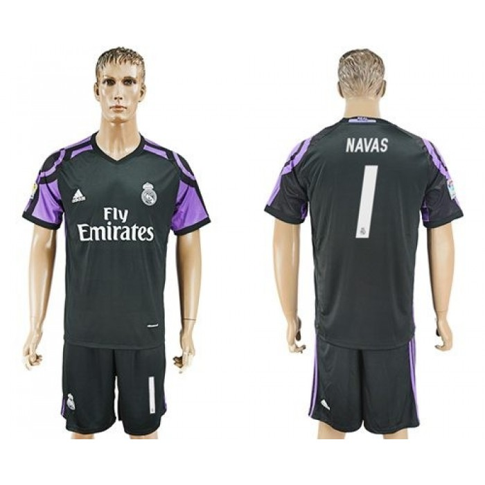 Real Madrid #1 Navas Sec Away Soccer Club Jersey
