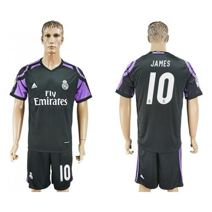 Real Madrid #10 James Sec Away Soccer Club Jersey