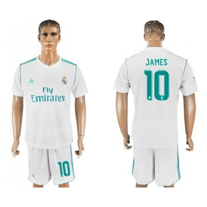 Real Madrid #10 James White Home Soccer Club Jersey