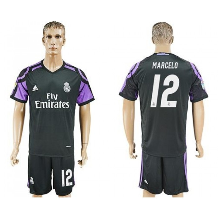 Real Madrid #12 Marcelo Sec Away Soccer Club Jersey
