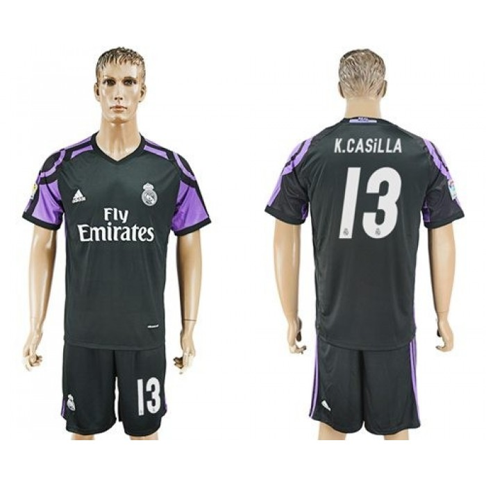 Real Madrid #13 K.Casilla Sec Away Soccer Club Jersey
