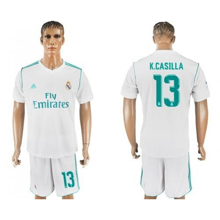 Real Madrid #13 K.Casilla White Home Soccer Club Jersey
