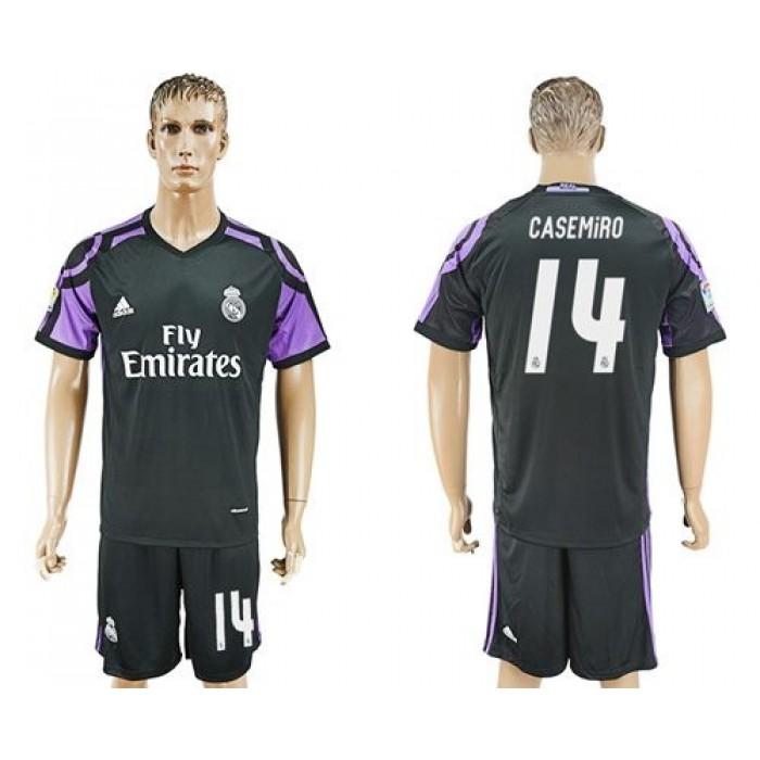Real Madrid #14 Casemiro Sec Away Soccer Club Jersey