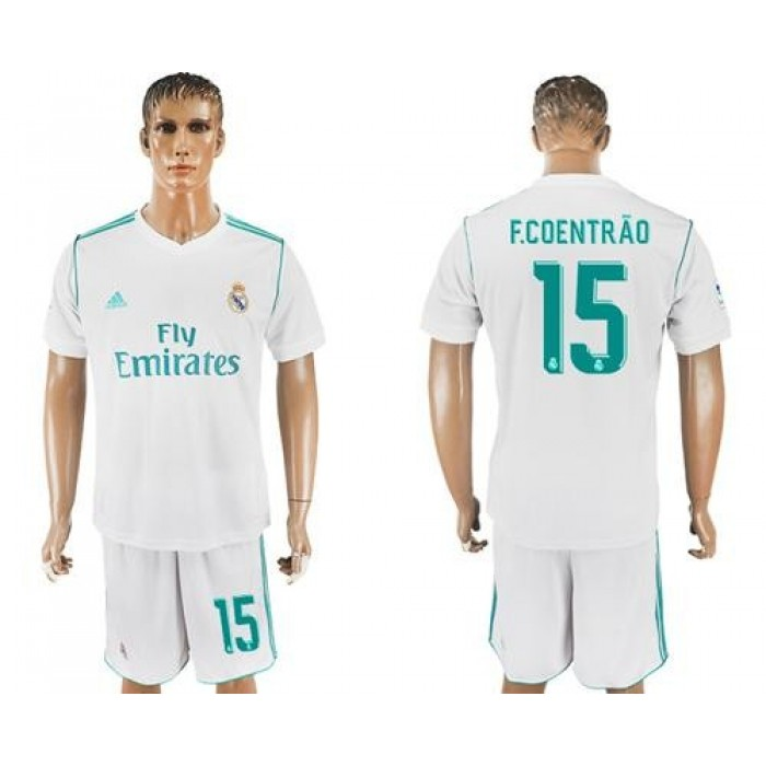 Real Madrid #15 F.Coentrao White Home Soccer Club Jersey