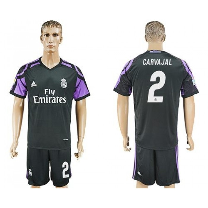 Real Madrid #2 Carvajal Sec Away Soccer Club Jersey