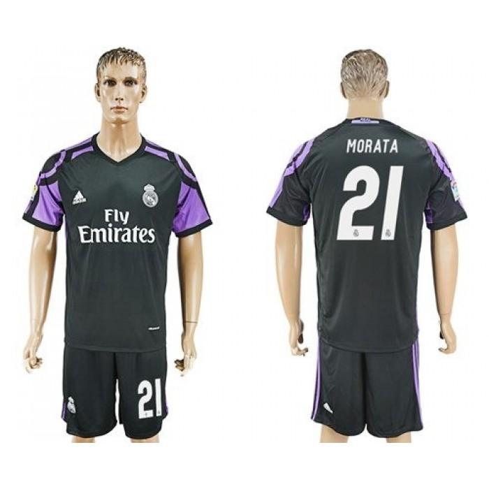 Real Madrid #21 Morata Sec Away Soccer Club Jersey