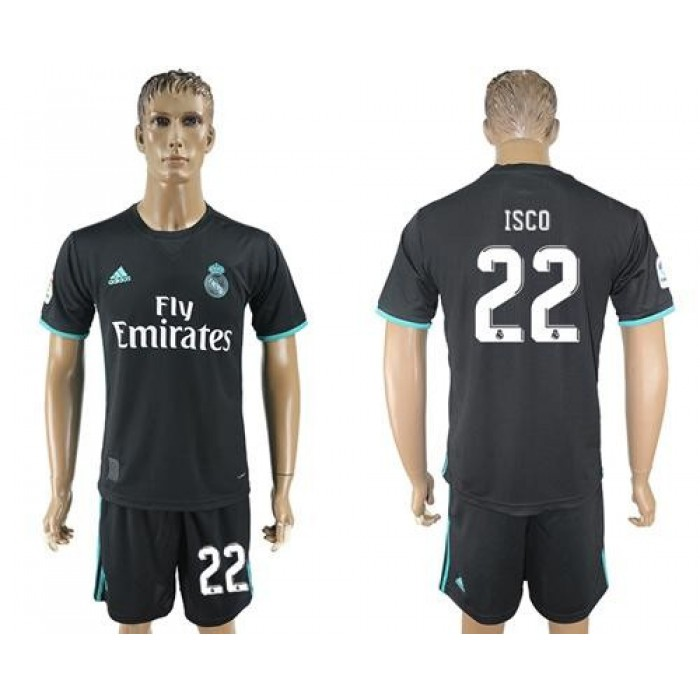 Real Madrid #22 Isco Away Soccer Club Jersey